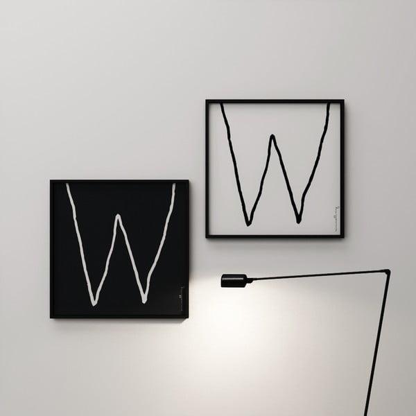 Plakat Litera W, 50x50 cm