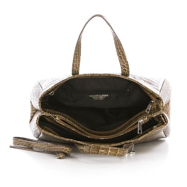 Beżowa torebka skórzana Federica Bass Eris