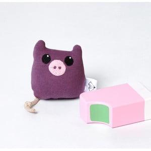 Mini Pluszak Świnka w pudełku, fioletowy
