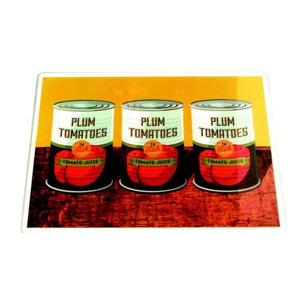 Szklana deska do krojenia Plum Tomatoes Cans, 30x40cm