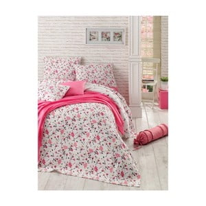 Lekka narzuta z prześcieradłem i poszewkami na poduszki Sweet Flomar, 200x235 cm