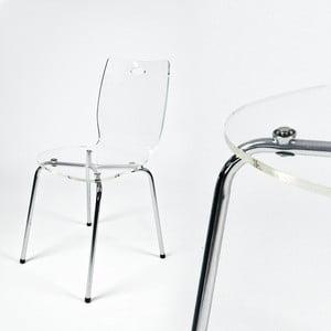Krzesło Terry, przezroczyste