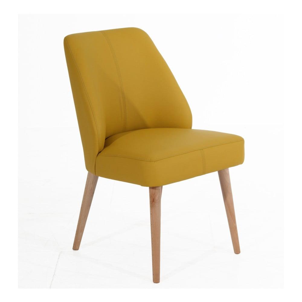 Żółte tapicerowane krzesło Max Winzer Todd