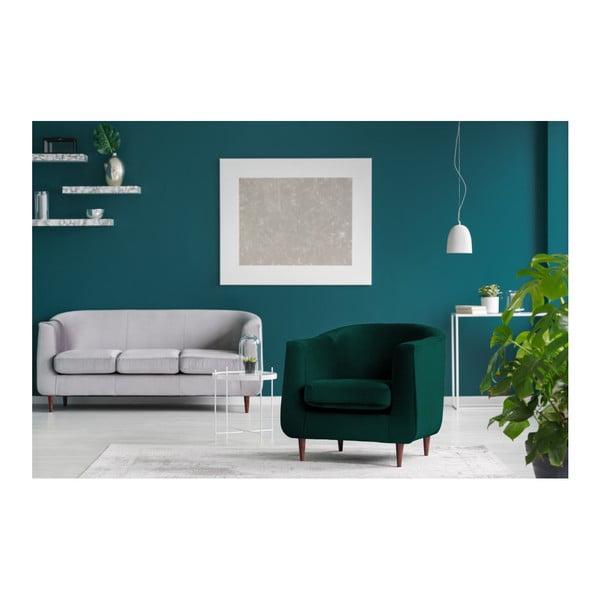 Ciemnozielony fotel Kooko Home Glam