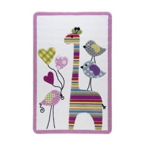 Różowy dywan dziecięcy Confetti Giraffe, 133x190 cm