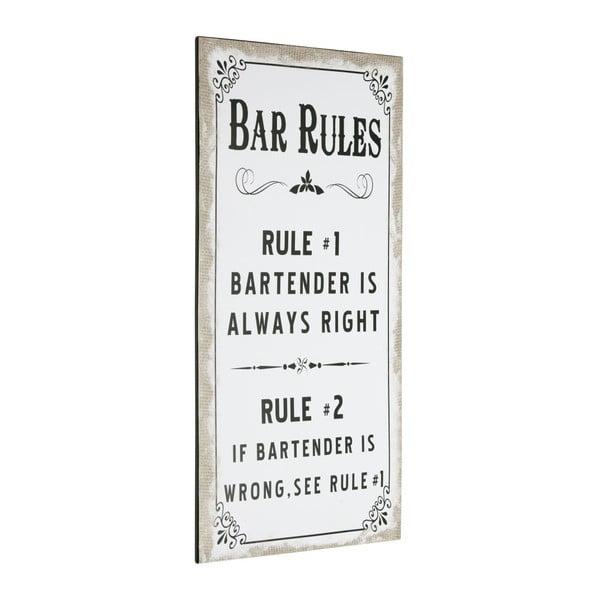 Tablica Bar Rules, 60x30 cm