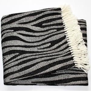 Koc Zebra Black, 140x180 cm