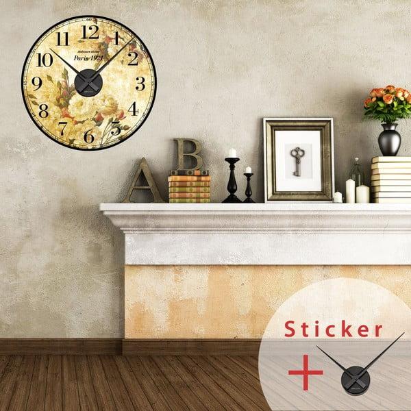 Samoprzylepny zegar Paris 1921, 55 cm