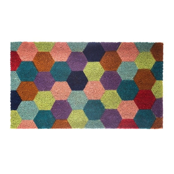 Wycieraczka z włókien kokosowych Hexagon, 40x70 cm