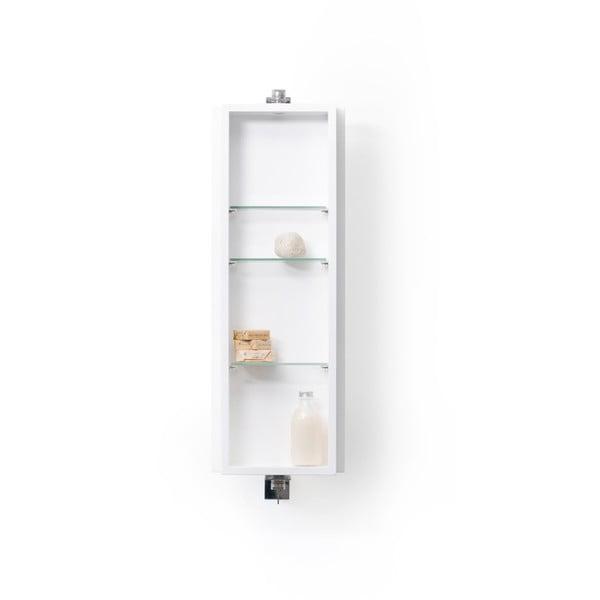 Białe lustro łazienkowe z szafką Wireworks Domain, 71 cm