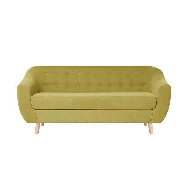 Żółta sofa trzyosobowa Jalouse Maison Vicky