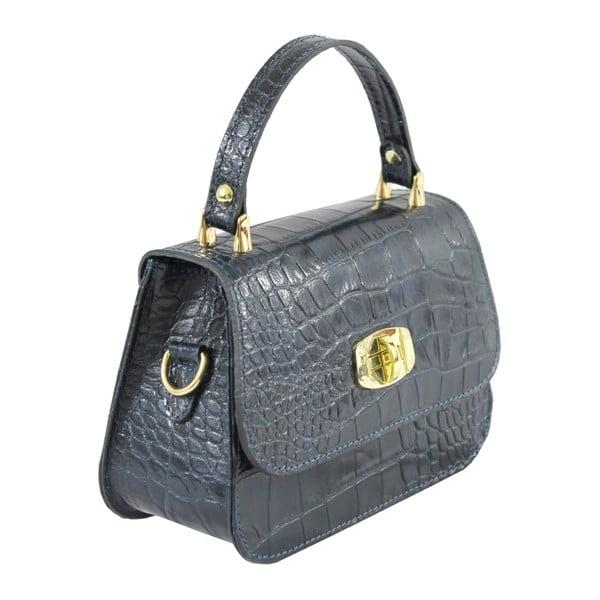 Niebieska skórzana torebka Caroline