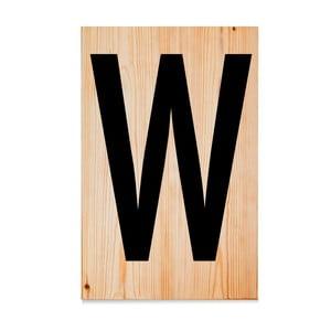 Drewniana tabliczka Letters W