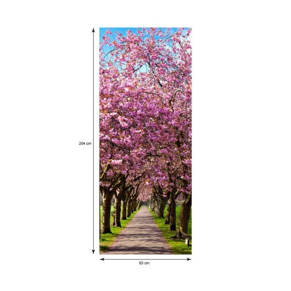 Naklejka   elektrostatyczna na drzwi Ambiance Blossom Plum Tree