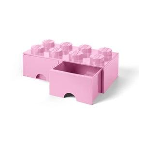 Jasnoróżowy pojemnik z 2 szufladami LEGO®