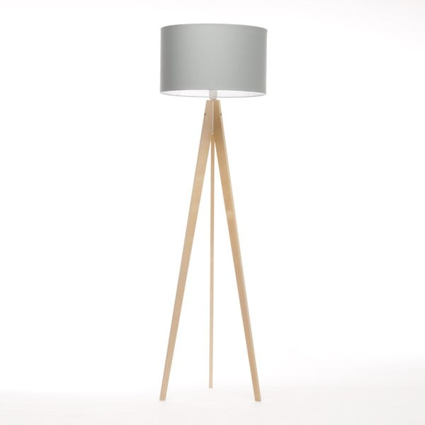 Jasnoniebieska lampa stojąca 4room Artist, brzoza, 150 cm