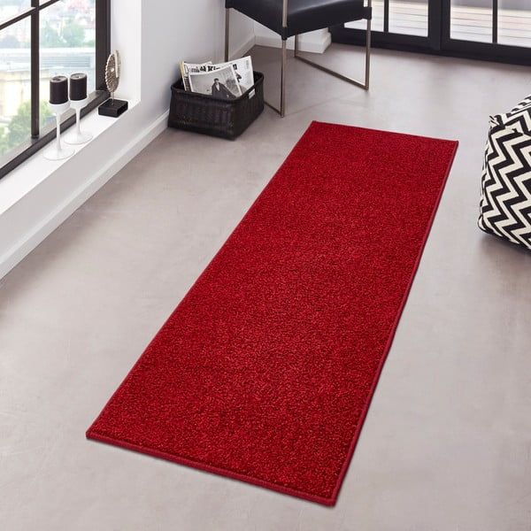 Červený dywan Hanse Home Pure, 80 x 150 cm