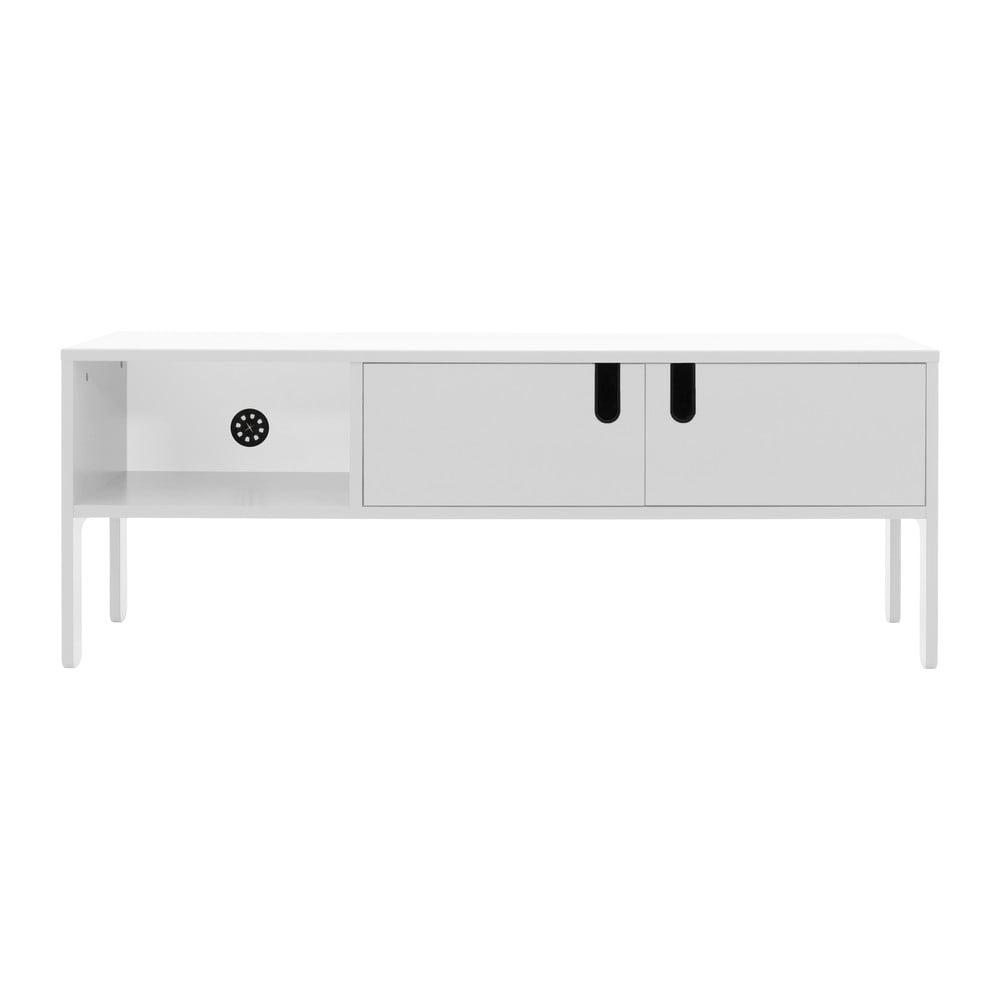 Biała szafka pod TV Tenzo Uno, szer. 137 cm