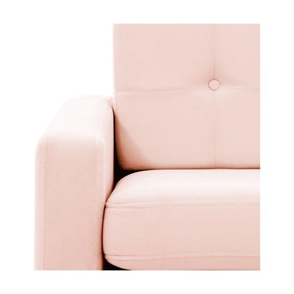 Pastelowo różowa sofa dwuosobowa VIVONITA Ina