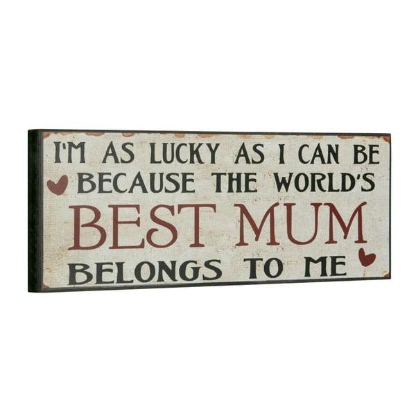 Tablica Best mum, 14x40 cm