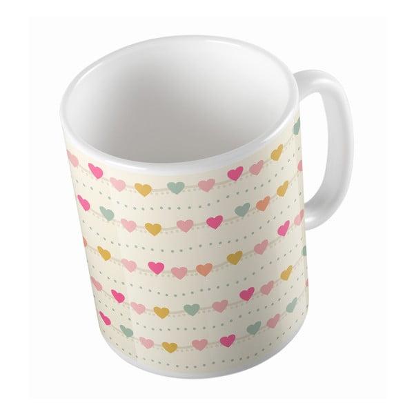 Ceramiczny kubek Heart Necklace, 330 ml