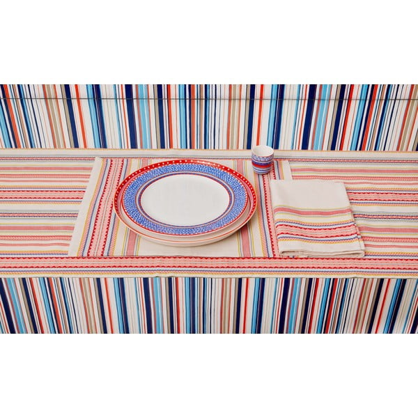 Komplet 4 talerzy porcelanowych na pizzę Oilily 31 cm, żółty