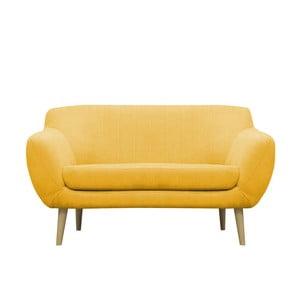 Żółta sofa dwuosobowa Mazzini Sofas Sardaigne