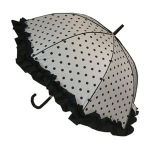 Parasolka Polka Dot, white