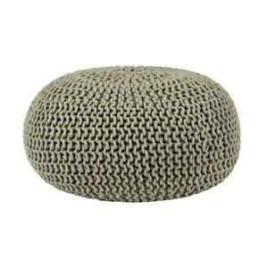 Oliwkowy puf dziergany LABEL51 Knitted, Ø 70 cm