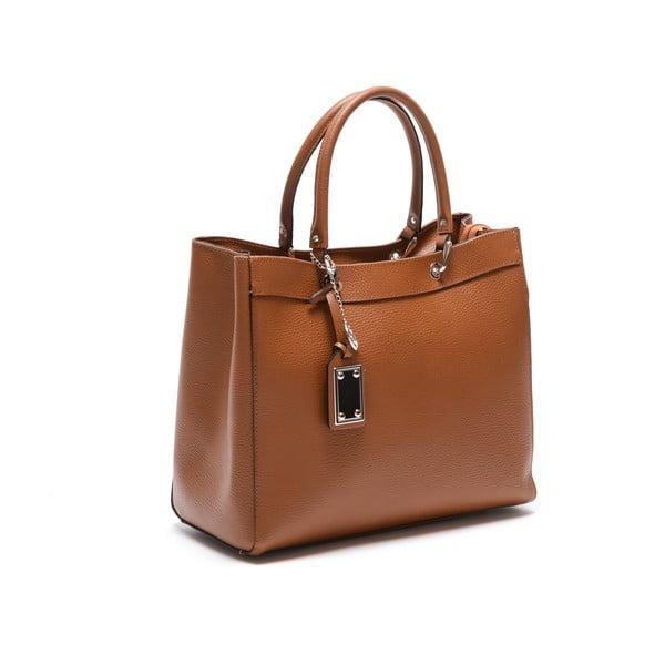 Skórzana torebka Carla Ferreri 168 Cognac