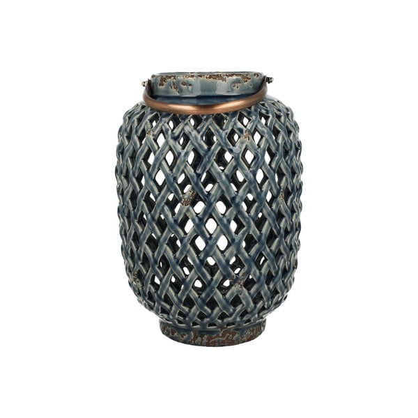 Lampion ceramiczny BlueLight, 28 cm