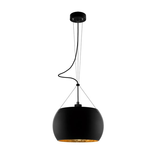Lampa MOMO, black matte gold/black
