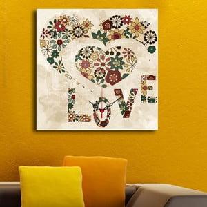Obraz z zegarem Love
