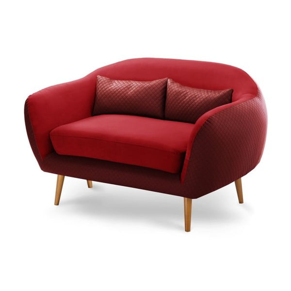Sofa 2-osobowa Meteore Red/Red