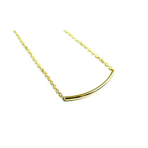 Naszyjnik Golden Curve Tube