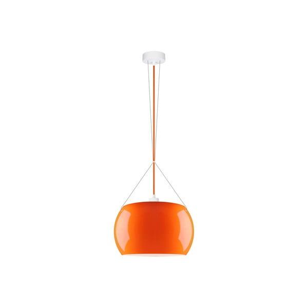 Pomarańczowa błyszcząca lampa wisząca Sotto Luce MOMO