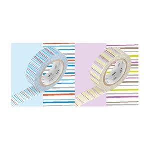 Zestaw 2 taśm dekoracyjnych washi Rayé Shima