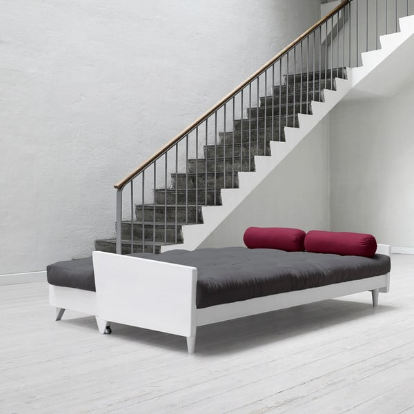 Sofa rozkładana Karup Indie White/Gris/Light Bordeaux