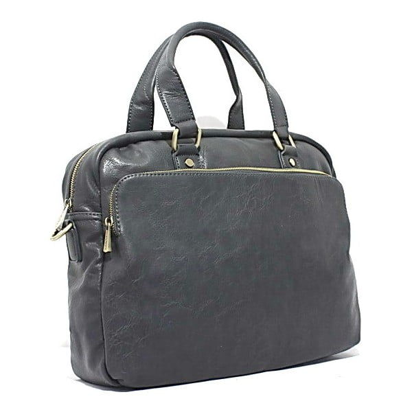 Torba na laptop Bobby Black - Grey, 38x31 cm