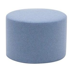 Niski jasnoniebieski puf Softline Drum Small