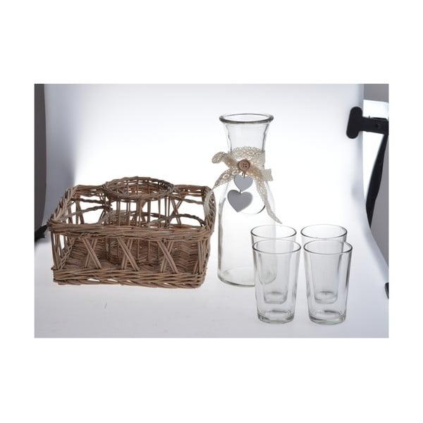 Karafka, 4 szklanki i skrzynka Bottle