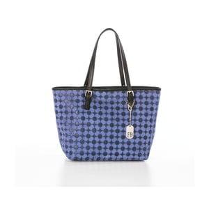 Niebieska torebka skórzana Federica Bassi Margherita
