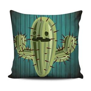 Zielono-biała poduszka Home de Bleu Cactus Face, 43x43cm