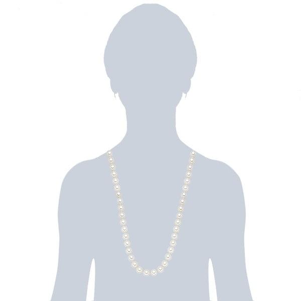 Naszyjnik z białych pereł ⌀ 12 mm Perldesse Muschel, długość 80 cm