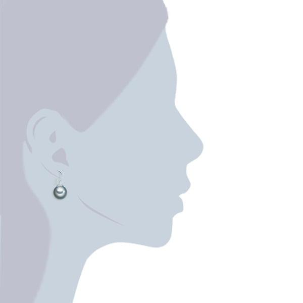 Perłowe kolczyki Kerne, szara perła 12 mm