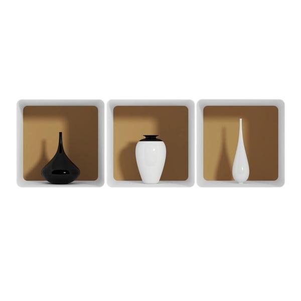 Naklejka na ścianę 3D Ambiance Vases