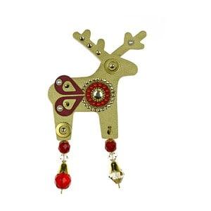 Złota duża broszka Deers Bessie