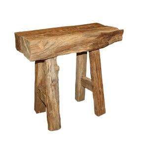 Taboret z drewna tekowego HSM Collection Rustic