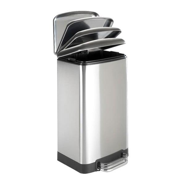 Kosz na śmieci w srebrnym kolorze Wenko 30 l