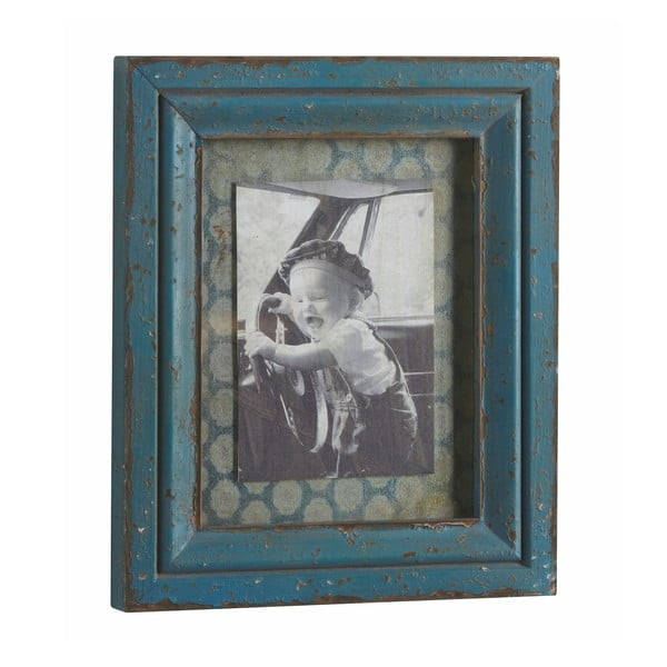 Ramka na zdjęcia Antique, niebieska